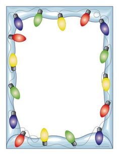 Winter Holiday Writing Paper Lights fun paper is a great incentive for student writing The post Winter Holiday Writing Paper appeared first on Paper Diy. Christmas Border, Christmas Frames, Christmas Paper, Christmas Signs, All Things Christmas, Diy Paper, Paper Crafts, Holiday Writing, Christmas Stationery