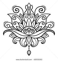 Lotus Flower Tattoo Designs Stock Photos And Images – flower tattoo – mandala Flower Lotus Tattoo, Flower Tattoos, Simple Mandala Tattoo, Lotus Henna, Lotus Flower Art, Hand Tattoos, Feather Tattoos, Star Tattoos, Sleeve Tattoos