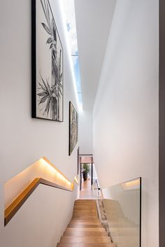 Skylights over the staircase. Design by Akihaus   Lookbox Living