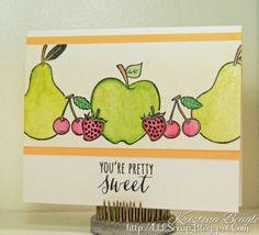 You're Pretty Sweet Handmade Card with Hero Arts