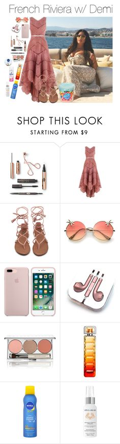 """""""frenchriviera"""" by hsmklau ❤ liked on Polyvore featuring Zimmermann, PhunkeeTree, Chantecaille, HUGO, Nivea and Apple & Bears"""
