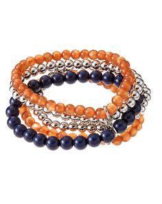 accessory PLAYS® NCAA University Of Illinois Five Row Stretch Bracelet