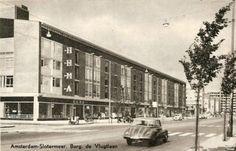 Amsterdam, De Burgemeester de Vlugtlaan in Amsterdam omstreeks 1957