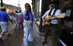 Tennessean Cover Nashville Elvis & Ray Giles on Broadway. www.NashvilleElvis.com