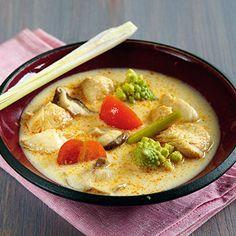 Thai-Curry-Suppe mit Hähnchen #Rezept