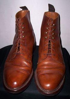 "Crockett & Jones""Coniston"" Tan pebble Grained Leather Cap Toe Ankle Boots UK 9 E   eBay"