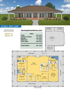 Start My Dream Home Plan 2224 is a 3 Bedroom 3 Bathroom 1 Bonus Room home with a little over 1900 sq ft of living space. Check out this plan and others! Ranch House Plans, Cottage House Plans, Craftsman House Plans, Dream House Plans, My Dream Home, European House Plans, Country Style House Plans, Modern House Plans, Small House Plans