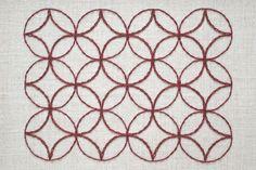 Embroidered Sashiko Pattern