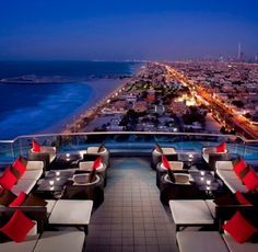 Rooftop bar at Jumeriah Beach Hotel
