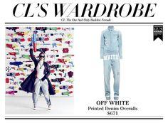CL | OFF WHITE Printed Denim Overalls