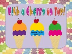 $3.95 Such a cute, fun word wall game that is PERFECT for the end of the year! Players choose an ice cream cone to begin the game. Players take turns t...