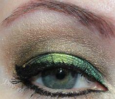 Green and gold eyeshadow tutorial. Sugarpill