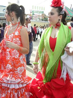 dressing up for Feria de Abril