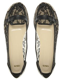 ASOS LETTY Lace Detail Loafer  £25.00