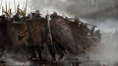 Lannister infantry in the battle on the Green Fork