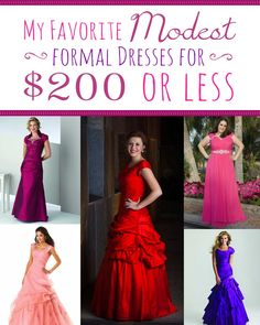 Looking for a #Modest #Prom dress that won't break the bank? Check out these stunning options for under $200! http://sprinklesonmyicecream.blogspot.com/