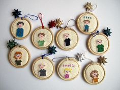 Ornaments stitched by Phizzychick on craftster...this rocks!