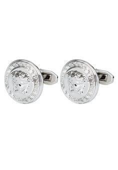 Versace Spinka do mankietów silvercoloured 739.00zł #moda #fashion #men #mężczyzna #versace #spinka #do #mankietów #silver #srebrny #srebro #męska