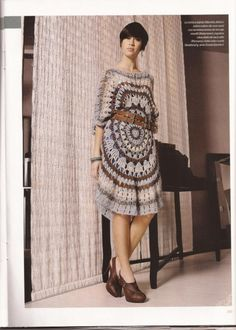 Crochet fashion circular dress♥LCC♥ with diagrams