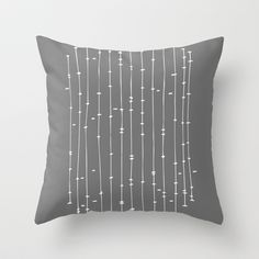 'Hold The Line' Throw Pillow by Tracie Andrews #pillow #abstract #Society6 #grey