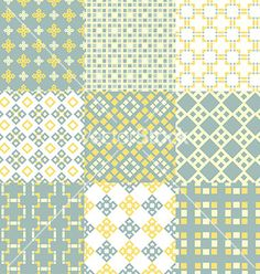 Seamless Pattern set vector - by Favete on VectorStock®