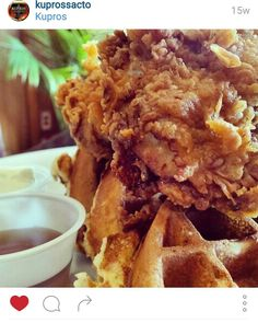 Chicken and Waffles. What a great combo.  #Sacramento #Brunch #chickenandwaffles