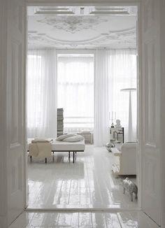 love white wooden floor