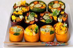 Vegetarian Sushi Wraps (colorwheel)