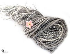 Full Set Wool Dreadlocks  Gray Dandelions  DE Braids  Type: Double Ended, braids Material: Worsted wool Method: handmade Pieces in set: Choose the quantity in the listing options Lenght: 40-50 inch (100-120cm), 20-25inch (50-60cm) folded in half Thickness: 0.39-0.79 inch (1-2cm) Color: gray shades, white   Quantity: If you have a mohawk - 30 pieces will be enough If you have a thin hair - 40 pieces will be enough If you have a tchick hair - you need 50-60 pieces, or more...   Wool dreadlocks…