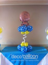balloon centerpices baby shower