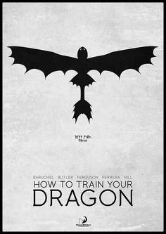 Great How to Train Your Dragon minimalist poster! Love this movie! by H. Svanegaard via Flickr
