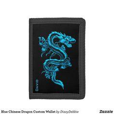 46bd0b171752c Blue Chinese Dragon Custom Wallet  affiliate Chinesischer Drache