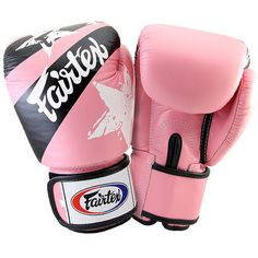 Fairtex Nation Print Universal Boxing Gloves - 18 oz - Pink