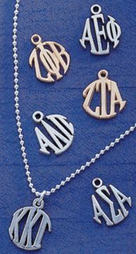 Sorority Circle Drop Charm $15.99 #Greek #Sorority #Jewelry #Charm #Gifts #Accessories