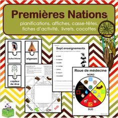 Premières Nations - autochtones - First Nations - French Ways Of Learning, Learning Process, Kids Learning, Learn French Fast, How To Speak French, My Future Job, French Worksheets, Medicine Wheel, French Immersion