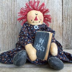 Handmade Teddy Bears and Raggedies: Adorable Handmade Primitive Raggedy Ann Doll Primitive Doll Patterns, Primitive Crafts, Raggedy Ann And Andy, Crafty, Country, Sock Monkeys, Ann Doll, Rag Dolls, Handmade Dolls
