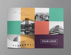 Colorful squares brochure template