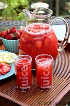 Llimonada de fresa o frutilla