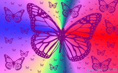 Mariposas en un mundo abstracto. La siguiente imagen fue creada por medio del Programa de Manipulación de Imágenes GNU. Con el pincel Butterflies, se utilizo la fuente llamada Skinny Chink de Bluesky, de medidas (640x480) y de orientación Horizontal.
