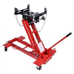 """Floor Style Hydraulic Transmission Jack 2000 Lb Capacity by KOVAL INC.. $279.98. This Low-profile Transmission Jack we now offering features an adjustable tilt saddle, four 3"""" diameter easy-roll casters and a swivel pump handle which permits ease of operation in restricted working spaces. Lift up to 2000 lbs. with a range of 5-3/4"""" to 31-1/2"""". It's ideal for handling heavy transmissions, perfect for the trucks with low ground clearance.  Features:  1 Ton (2000 lbs.) Cap..."""