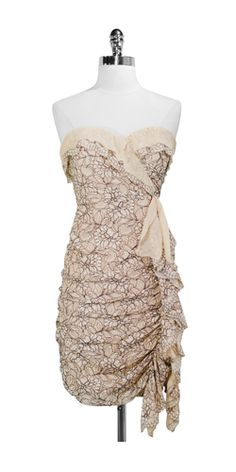 BCBG Strapless Lace Dress