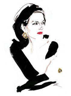 David Downton: un maître de l'illustration de mode contemporaine.
