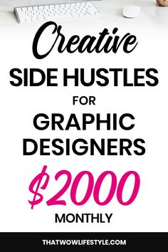 Top 3 Creative Side Hustles For Graphic Designers Top 3 Creative Side Hustles For Graphic Designers,Make Money With Graphic Design side hustles for graphic designers or college students, side hustles for teens, side hustle. Cash From Home, Online Work From Home, Work From Home Jobs, Make Money From Home, Way To Make Money, How To Make, Earn Extra Cash, Extra Money, Freelance Graphic Design