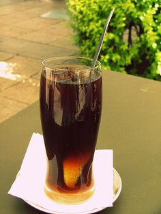 Mazagran (Portugal). 'Mazagran is a long cold coffee beverage usual in Portugal and served in a tall glass. It is made with at least strong coffee - usually espresso - lemon and ice, though sometimes sugar, rum or water is added.' http://www.lonelyplanet.com/portugal