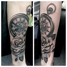 pocket watch tattoo49