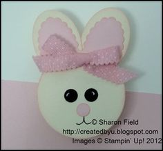 """Clean and simple Easter Bunny Treat using 2-1/2"""" circle punch and oval punches... super saturday tutorial feature #2 March 3, 2012"""