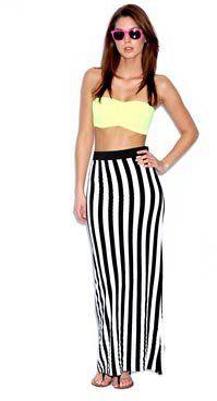 #boohoo                   #Skirt                    #Lisa #Monochrome #Striped #Jersey #Maxi #Skirt     Lisa Monochrome Striped Jersey Maxi Skirt                                     http://www.seapai.com/product.aspx?PID=426461