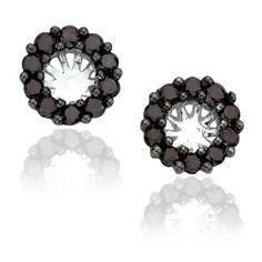 14K White Gold 1/2 (.5) ct Black Diamond Earring Jackets FindingKing. $434.99