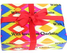 Colorful Ikat Personalized Gift Wrap
