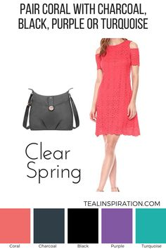 How to Wear Pink if You're a Spring – Teal Inspiration Bright Spring, Clear Spring, Warm Spring, Fashion Colours, Colorful Fashion, Spring Color Palette, Spring Colors, Colour Palettes, Pink Wardrobe